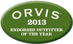 Orvis 2013 fly shop award logos