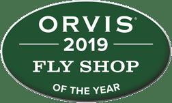 Orvis 2019 fly shop award logo