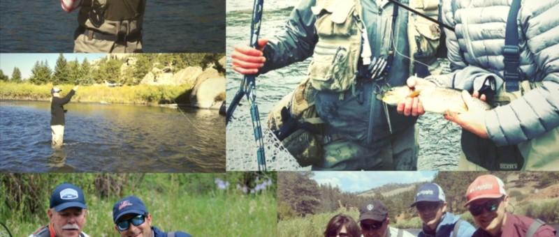 Composite image of beginners fly fishing classes