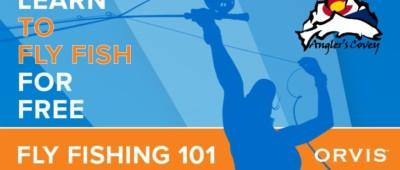 Graphic for the Orvis 101 free beginner fly fishing class