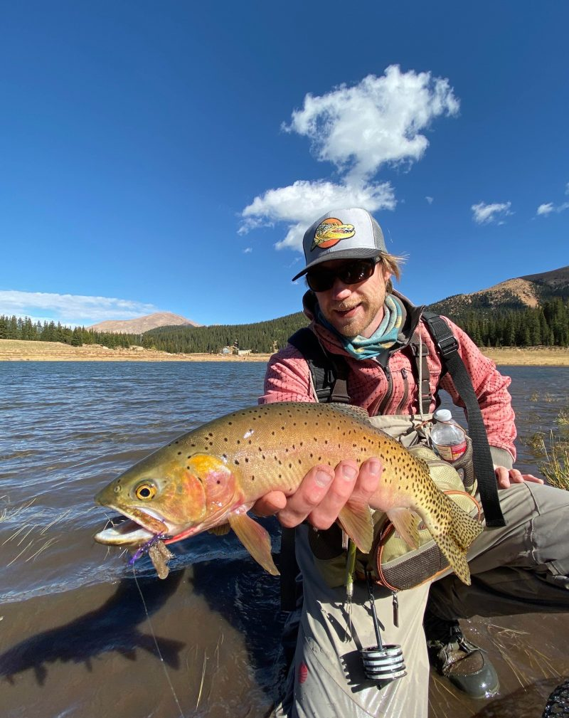 Phil and one of his rewards from one of Colorado's easily accessible mountain lakes.